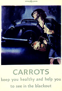 Home Sweet Home Front - 'Carrots help you to see in the Blackout' poster
